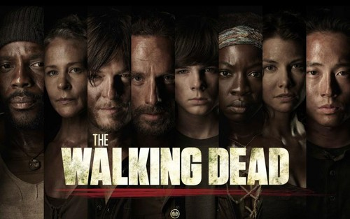 The Walking Dead karatasi la kupamba ukuta possibly containing a multiplex called the walking dead