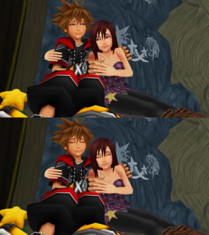 z z One Sky  One Sea  and One Destiny. Sora and Kairi