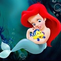 Baby Ariel and Flounder f63ee4c6cdfaefccfa64d1dd16e22e58 - disney-babies photo