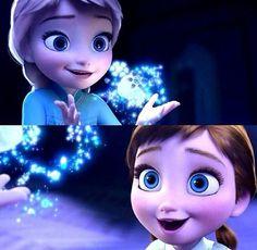 Baby Elsa and Anna f90cd96716b9407d94655ceee87c1d3f