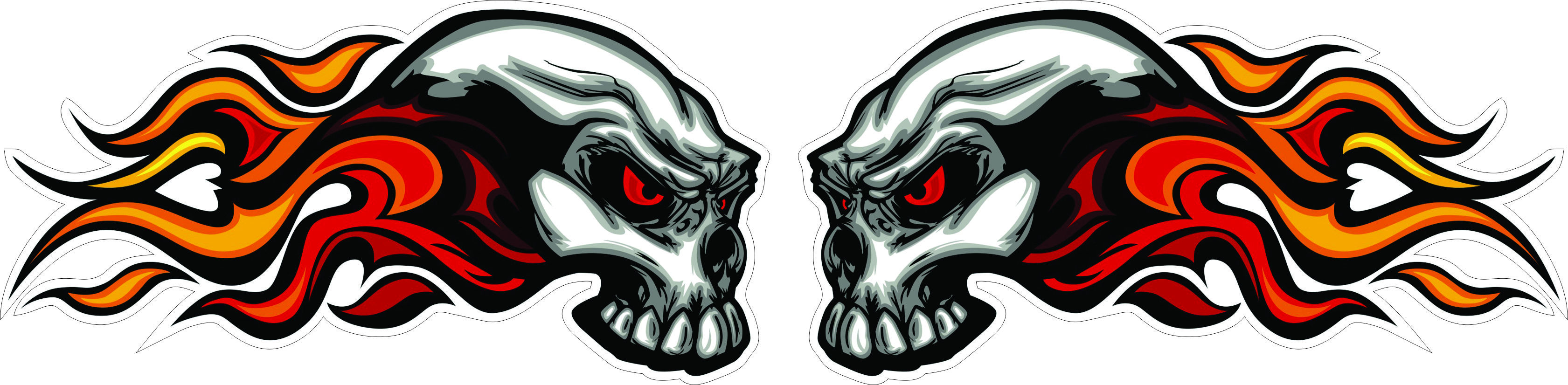 Awesome skulls n stuff images fire skull sticker hd wallpaper and background photos