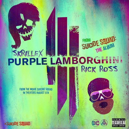 Suicide Squad wallpaper probably containing Anime entitled 'Purple Lamborghini' Single Cover (Fan-Made)