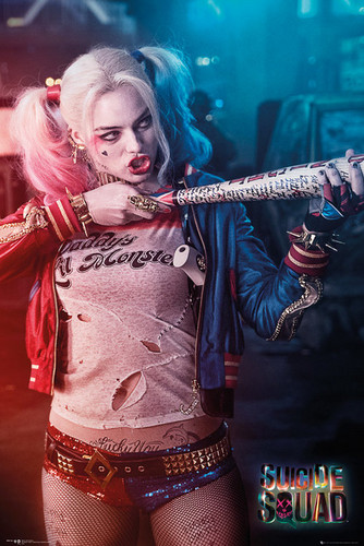 Suicide Squad wallpaper probably with a concerto entitled 'Suicide Squad' Retail Poster ~ Harley Quinn