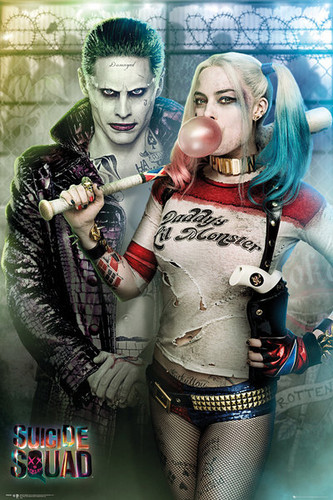 Suicide Squad wolpeyper titled 'Suicide Squad' Retail Poster ~ The Joker and Harley Quinn