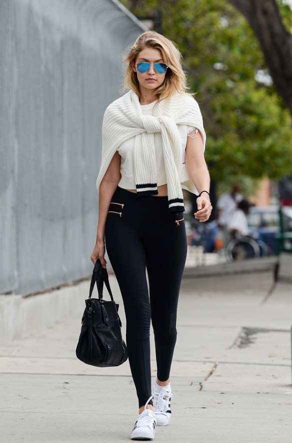 soft and light aliexpress great discount 2. leggings and basic tee - Gigi Hadid Official Photo ...