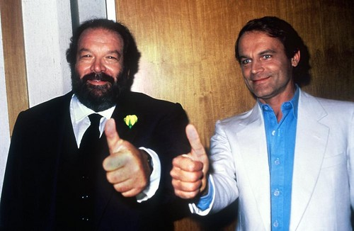 Bud Spencer karatasi la kupamba ukuta with a business suit and a suit called 3hk50014