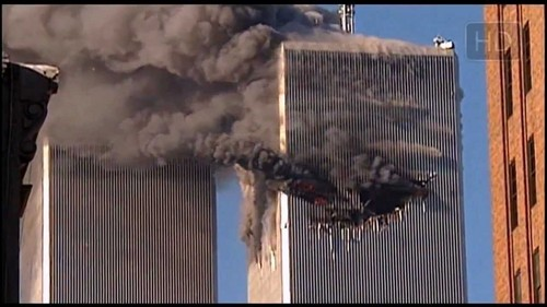 World Trade Center Footage Обои probably containing a business district and a небоскреб called 9 11 Attack