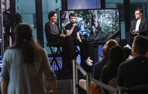 AOL Build Presents - Daniel Radcliffe, 'Swiss Army Man'. (Fb.com/DanielJacobRadcliffeFanClub)