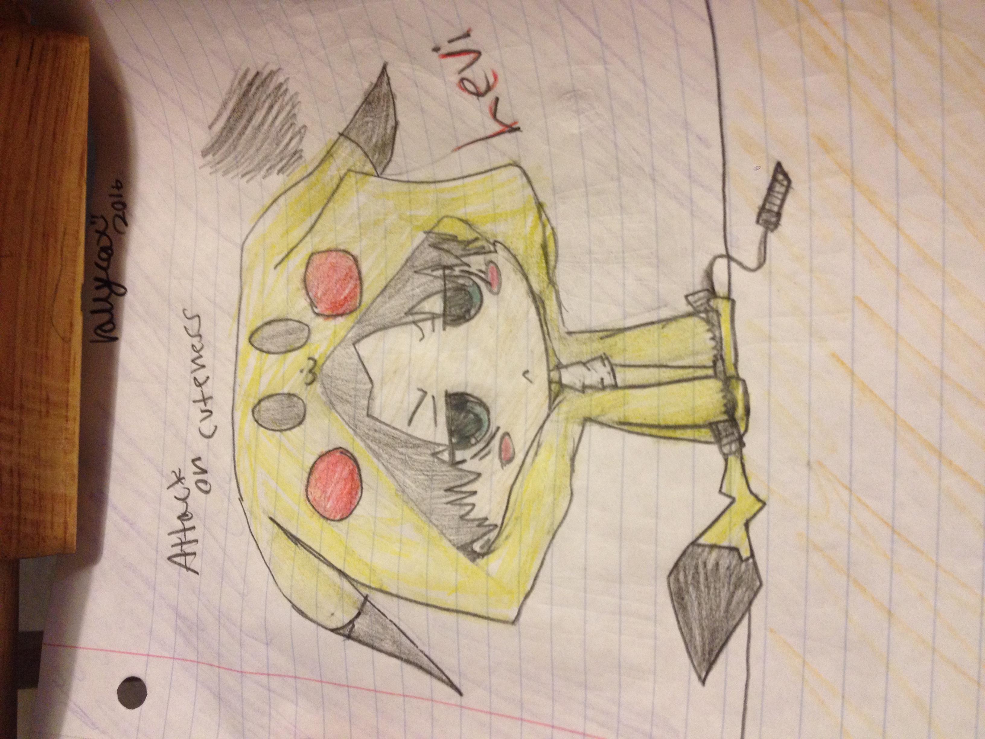 Adorable pikachu Levi:3