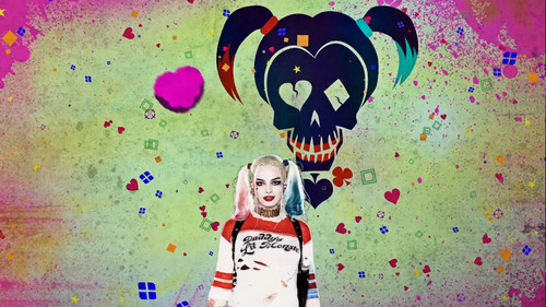 Suicide Squad fondo de pantalla entitled Advance Ticket Promos - Harley Quinn