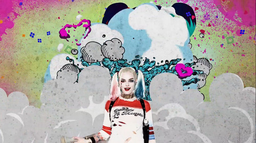 Suicide Squad achtergrond possibly with anime titled Advance Ticket Promos - Harley Quinn