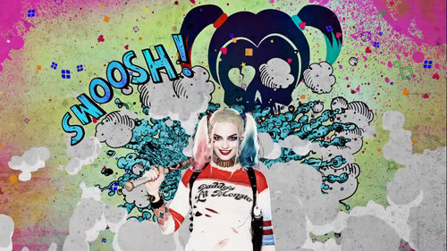Suicide Squad wallpaper with anime titled Advance Ticket Promos - Harley Quinn