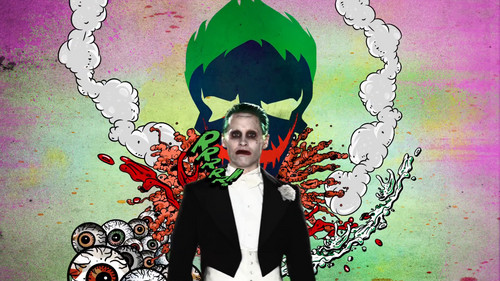 Suicide Squad wallpaper probably containing a business suit and anime entitled Advance Ticket Promos - The Joker