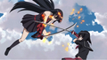 Akame fighting Kurome