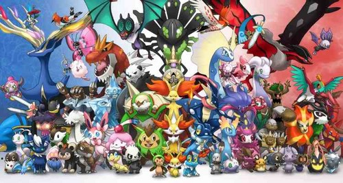 Pokémon achtergrond called All xy
