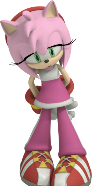 Amy Rose Sonic Free Riders Down
