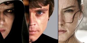 Anakin,Luke and Rey