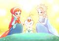 Anna, Elsa and Olaf - frozen fan art