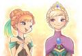 Anna and Elsa - frozen fan art