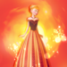 Anna fire icon  - disney-princess icon