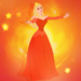 Aurora fire icon  - disney-princess icon