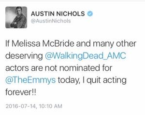 Austin Nichols gets mad at Emmy Snub