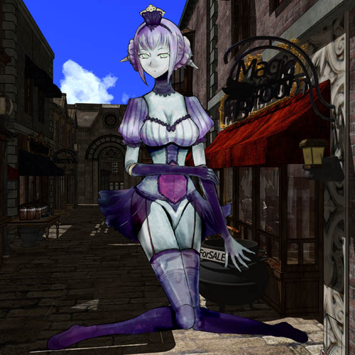 Monster Girl Quest kertas dinding called Automata Girl