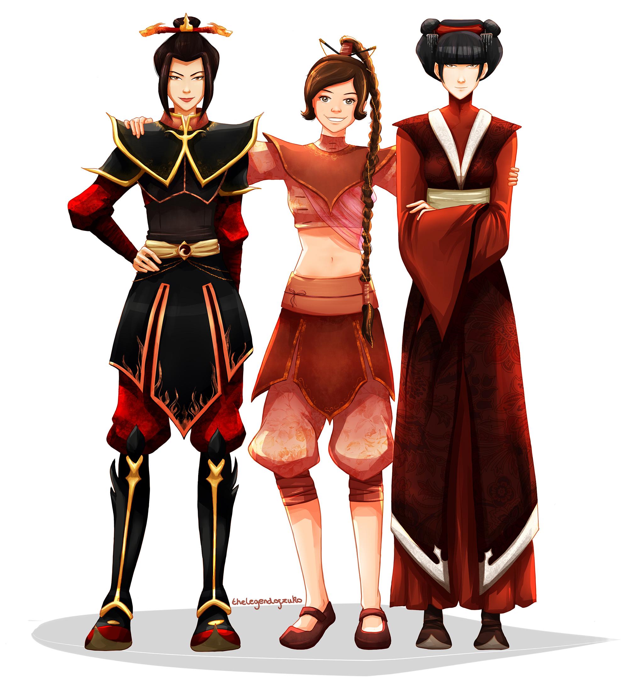Azula, Mai, and Ty Lee