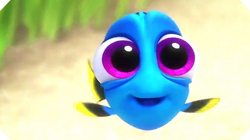 Childhood Animated Movie Characters 壁纸 entitled Baby Dory