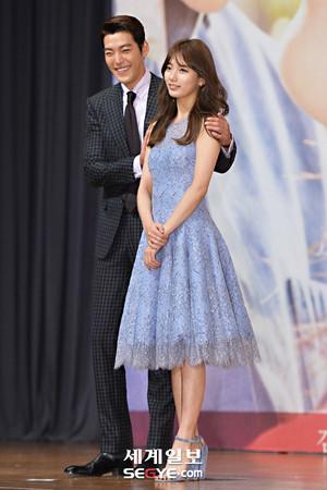 Bae Suzy and Kim Woo Bin at Uncontrollably Fond Premiere