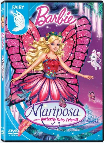 Sinema za Barbie karatasi la kupamba ukuta containing anime titled Barbie: Mariposa and Her butterfly, kipepeo Fairy Marafiki New DVD Cover (2016)