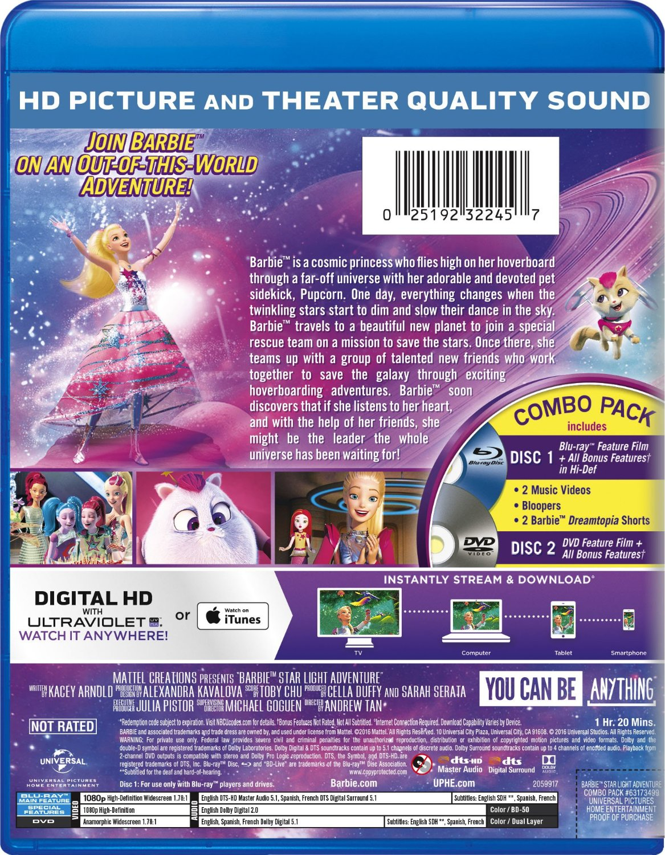 Barbie ster Light Adventure Blu-ray Cover