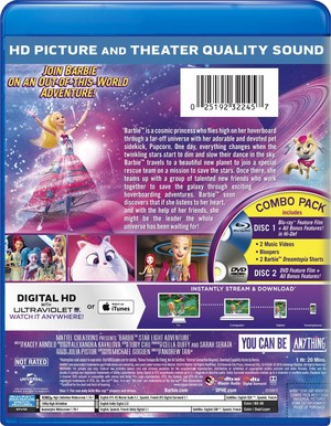 barbie estrella Light Adventure Blu-ray Cover