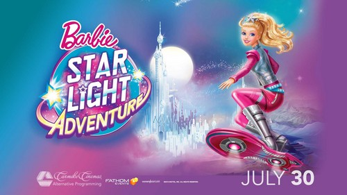 Barbie فلمیں پیپر وال probably with عملی حکمت called Barbie سٹار, ستارہ Light Adventure Cinema Poster