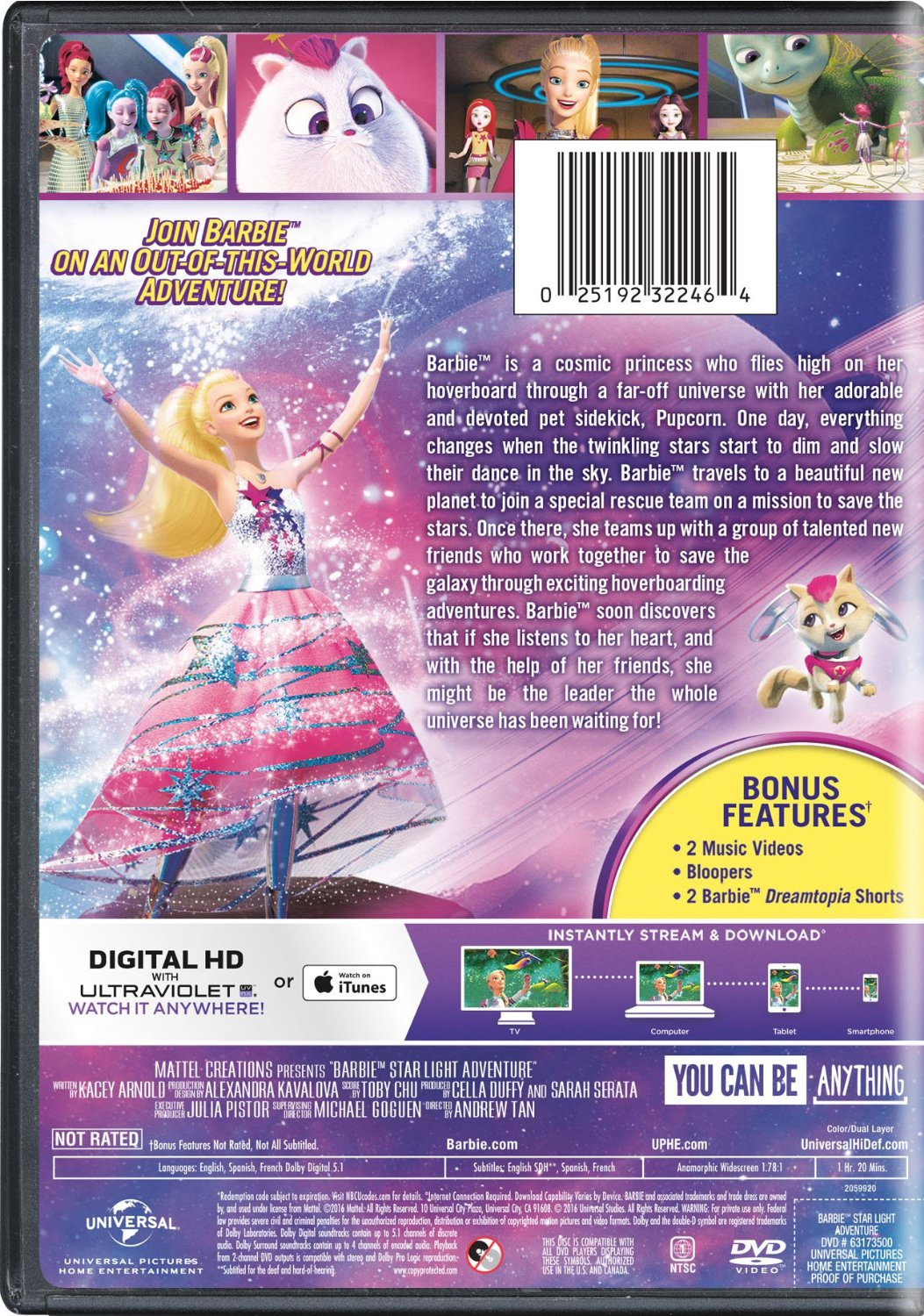 芭比娃娃 星, 星级 Light Adventure DVD Cover