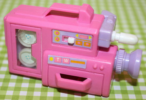 बार्बी toy video camera