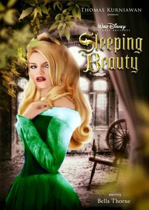 Bella Thorne as Aurora In Green