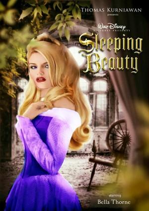 Bella Thorne as Aurora In Purple