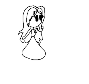 Black and White Smiley Princess