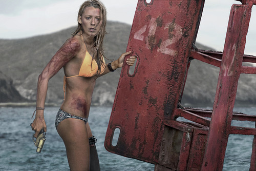 The Shallows वॉलपेपर containing a bikini entitled Blake Lively Textless Poster