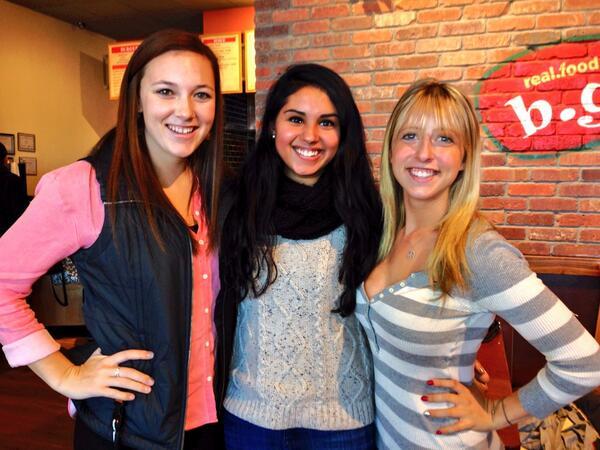 Bridget, Nina, and Madi