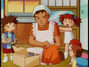 Brock with the his siblings