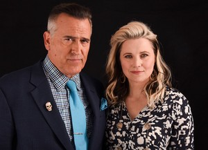 Bruce Campbell and Lucy Lawless - Comic Con Portrait