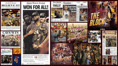 Cleveland Cavaliers wallpaper containing animê titled CLEVELAND CAVALIERS 2016 NBA CHAMPIONS