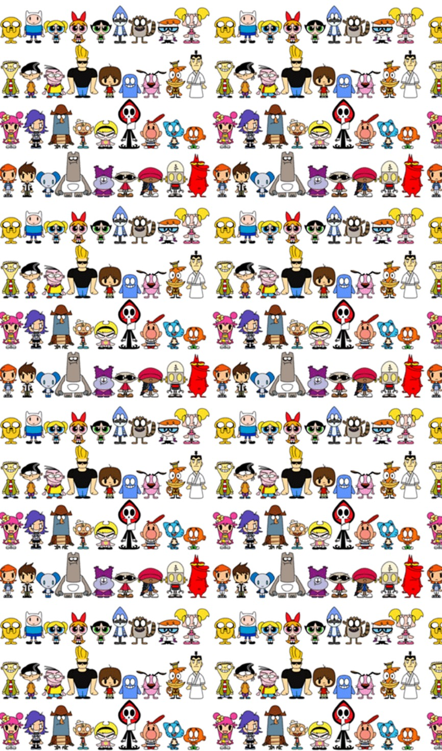 Cartoon Network Characters Patternsbackgroundswallpaper