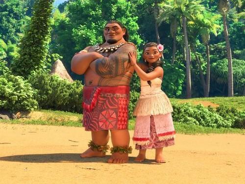 Disney's Moana Hintergrund called Chief Tui and Sina