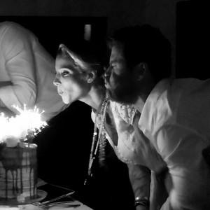 Chris and Elsa celebrating her 40th birthday
