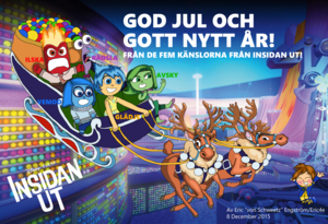 Christmas Card 2015 - Inside Out (Swedish)