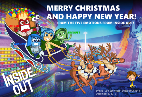 Inside Out achtergrond containing anime titled Christmas Card 2015 - Inside Out