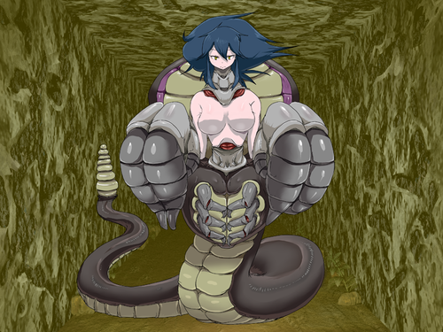 Monster Girl Quest پیپر وال probably containing عملی حکمت titled کوبرا Girl
